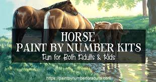 Template Powerpoint Maken Horses Paint By Number Printable