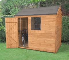 Cheap 6 X 8 Wooden Sheds by 8 X 6 Overlap Dip Treated Reverse Apex Shed Gardensite Co Uk