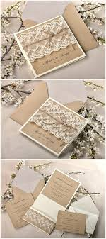 Rustic Wedding Invitations With Burlap Shabby Chic Lace And Invitation Suite Barn