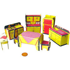 Built Rite Miniature Dollhouse Kitchen Furniture Set No 49