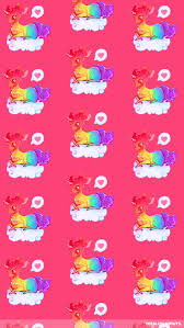 Dreamy Rainbow Unicorn Mobile Wallpaper