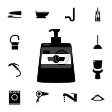 fototapete bad symbol element der badezimmer set symbol badezimmer und