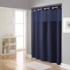 Curtains Bed Bath And Beyond by Bathroom Stunning Hookless Shower Curtain With Snap Liner For
