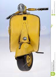Yellow Vespa Scooter Front