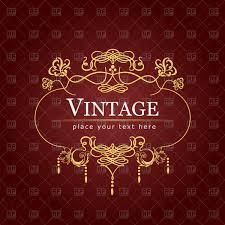Invitation Black And Gold Vector Best Of Vintage Chandelier