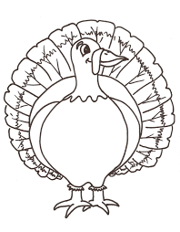 Turkey Color Pages Free Printable Coloring For Kids To Download