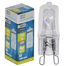 5 x g9 xenon high performance halogen light bulbs 28w 40w eco