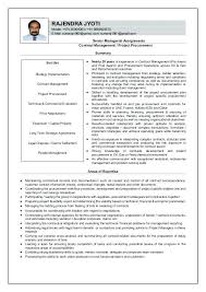 Resume Samples Contract Management Feat Specialist