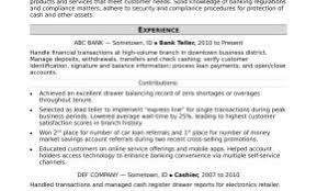 Sample Resume For Retail Banker Awesome Bank Resumes Weoinnovate