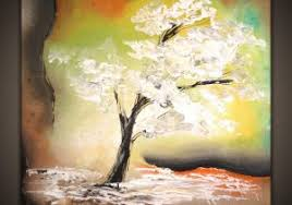 Simple Abstract Art Paintings White Tree How To Paint A Painting