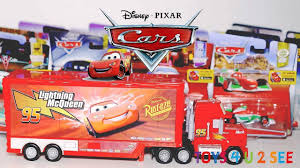 100 Cars Mack Truck Playset DISNEY CARS Unboxing Toys Toys