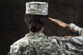 Female African American Soldier Series Saluting