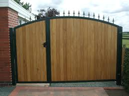 Picturesque Pine Wooden Driveway Gates With Chrome Frames As ... Sliding Wood Gate Hdware Tags Metal Sliding Gate Rolling Design Jacopobaglio And Fence Automatic Front Operators For Of And Domestic Gates Ipirations 40 Creative Gate Ideas 2017 Amazing Home Part1 Smart Electric Driveway Collection Installing Exterior Black Wrought Iron With Openers System Integration Contractors Fencing Panels Pedestrian Also