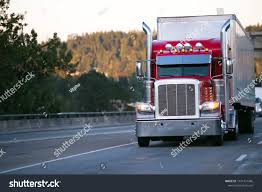 Bright Red Classic Big Rig Semi Stock Photo (Edit Now) 1031431486 ...