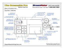 100 Food Truck Dimensions Oceanside Pro Mobile Cart DreamMaker Hot Dog Carts