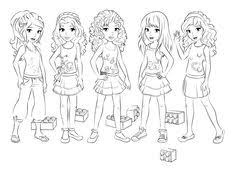 Lego Friends Coloring 1 3016x2179 Pixels