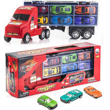 100 Truck It Transport Car Carrier Semi Toy With 6 Cars And 6 Slots Gift