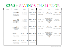 265 One Month Money Challenge A Fun Way To Save Earn Nearly 300