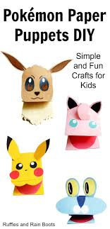 Make These Adorable Pokemon Paper Puppets Its Such A Quick Easy And Fun