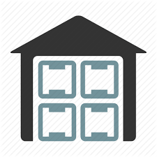 Cargo Crates Warehouse Icon