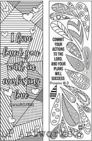 Bible Coloring Bookmarks Printable Biblearts Doodle