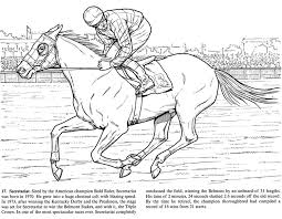 Free Printable Horse Secretariat Coloring Pages