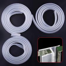 2m gummi silikon bad dusche bildschirm tür fenster dichtung streifen lücke gekrümmte flache 0 6 cm 1cm 1 2 cm