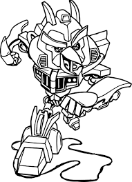 Angry Birds Transformers Characters Coloring Pages