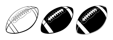 Black with white american football vector Vector Sport free