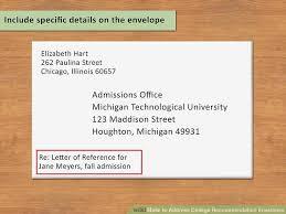 How to Address College Re mendation Envelopes 12 Steps