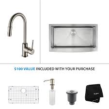 Kraus Faucets Home Depot by Stainless Steel Kitchen Sink Combination Kraususa Com