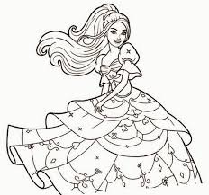 Coloring Pages Barbie Free Games Fun Color Page Downloads
