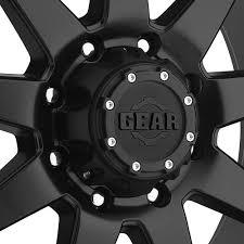 100 8lug Truck Gear GEAR ALLOY 728B OVERDRIVE Wheels Satin Black Rims