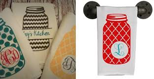 Personalized Kitchen Towels With Mason Jars For 799