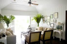 British Colonial Coastal Living Room Slipcover Sofa Wicker Chairs