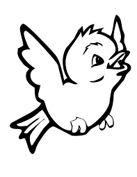 Cute Bird Coloring Pages Flying