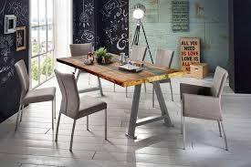 sit esstisch tops tables mit platte aus recyceltem altholz mit farbresten shabby chic vintage kaufen otto