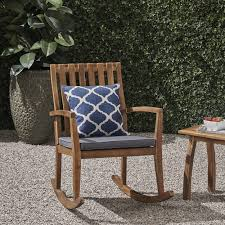 Colmena Outdoor Acacia Wood Rustic Style Rocking Chair With Cushions By  Christopher Knight Home My Favorite Finds Rocking Chairs Down Time Exciting Rattan Wicker Chair Cushions Agreeable Fniture Rural Grey Wooden Single Rocking Chair Departments Diy At Bq Outdoor A L Hickory 7 Slat Rocker In 2019 Handsome Green Tweed Cushion Latex Foam Rustic American Sedona Lowes For Inspiring Antique Classic Check Taupe Plaid Standish Darek La Lune Collection Belham Living Raeburn Rope And Wood Walmartcom