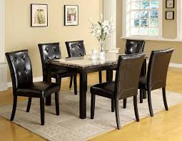 Captain Chairs For Dining Room Table by Amazon Com Furniture Of America Taveren 7 Piece Faux Marble