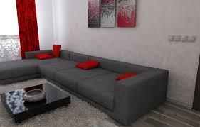 16 luxus grau rot wohnzimmer design1 home decor