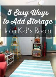5 Easy Ways To Add Storage Your Kids Room DIY IdeasKids