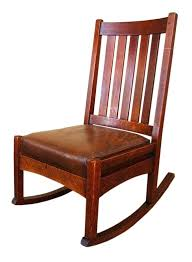 stickley rocking chair value iconic mission oak rocking chair