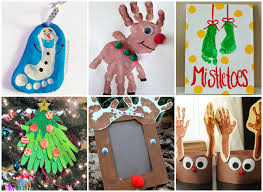 20 Handprint And Footprint Christmas Crafts For Kids