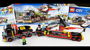100 Lego City Truck LEGO Special Transport Semi Truck And Helicopter YouTube