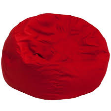 Amazon Flash Furniture Oversized Solid Red Bean Bag Chair Kitchen Dining