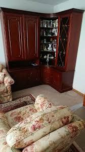schrankwand wohnzimmer 155cm eckschrank 175x125 mahagoni