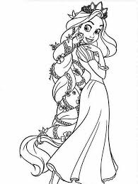 Interesting Tangled Color Pages Beautiful Rapunzel Coloring Page