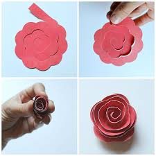 Paper Flower Silhouette Tutorial Rolled Shadowbox Occasionally Crafty