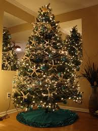 Real Christmas Trees Kmart by My Beach Christmas Tree Starfish Garland With White Fishing Net