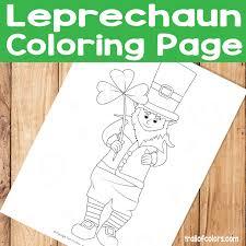 Adorable Leprechaun Coloring Page St Patricks Day Free Printable